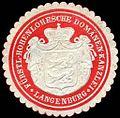 Siegelmarke Fürstlich Hohenlohesche Domänen - Kanzlei - Langenburg W0226570.jpg