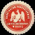 Siegelmarke Koeniglich Preussisches Artilleriedepot Wesel W0238310.jpg
