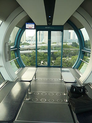 Singapore Flyer - Image: Singapore flyer capsule inside