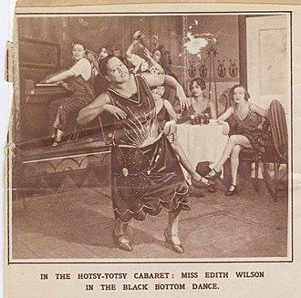 "Black Bottom (dance) - Edith Wilson performing the Black Bottom dance in the London production of Lew Leslie's ""Blackbirds""(1926)"