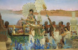 Ancient Egypt in the Western imagination - Lawrence Alma-Tadema, The Finding of Moses, 1904