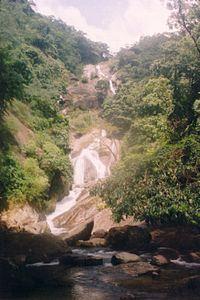 Siruvani Falls above bathing area.jpg