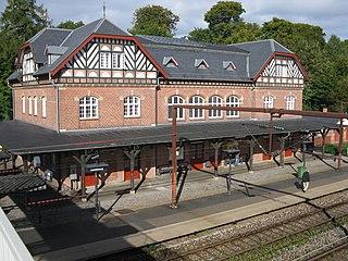 railway station in Rudersdal Municipality, Denmark