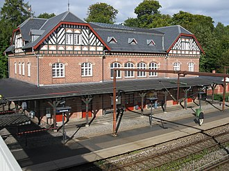 Skodsborg Station - The main station building