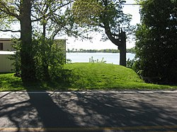 Smaller Lake Ridge Island mound, eastern side.jpg