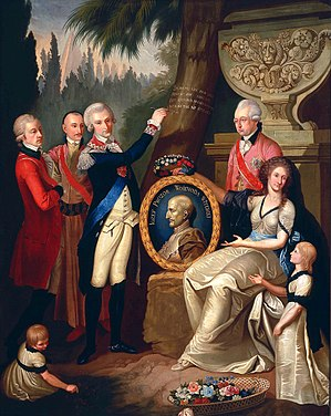 Enlightenment in Poland - Portrait of the Prozor Family by Franciszek Smuglewicz, 1789