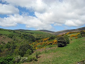 Geography of the Isle of Man - A view up a glen with Snaefell at the head