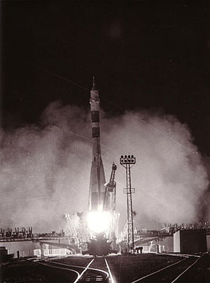 Soyuz 40 - Soyuz 40 is launched from the Baikonur Cosmodrome on 14 May 1981.