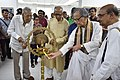 Somendranath Bandyopadhyay Lighting Lamp - Opening Ceremony - 1st Four Ps Group Exhibition - Kolkata 2019-04-17 5384.JPG