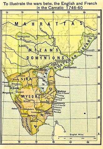 Sira Subah - Image: South India Between Carnatic Wars