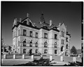 South and west elevations - Brockton City Hall, 45 School Street, Brockton, Plymouth County, MA HABS MASS,12-BROCK,1-12.tif