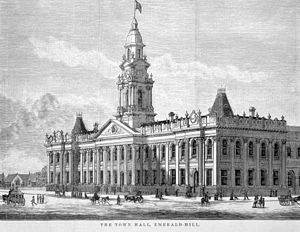 South Melbourne Town Hall - South Melbourne Town Hall in 1880