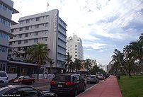 Ocean Drive - South Beach, View towards the no...