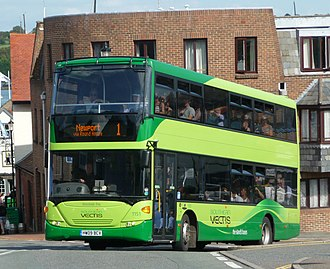 Southern Vectis - Scania OmniCity in Cowes in August 2009
