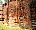 Southern outside wall of Goaldi mosque, Sonargaon, Narayanganj.jpg