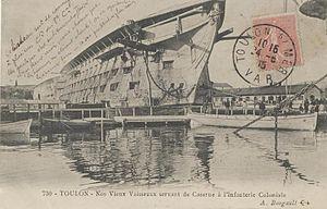 French ship Souverain (1819) - Image: Souverain Bougault