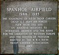 Spanhoe Airfield memorial plaque - geograph.org.uk - 3365459.jpg