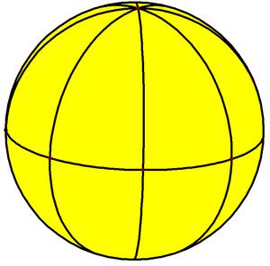 Octagonal bipyramid - Image: Spherical octagonal bipyramid