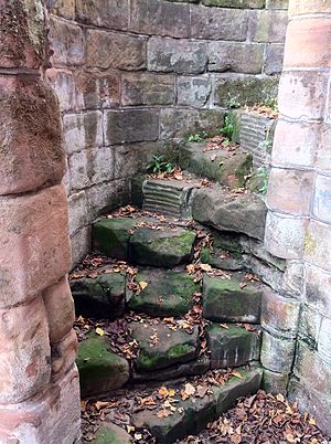 St. Mary's Priory and Cathedral - Remains of spiral staircase in south-west tower