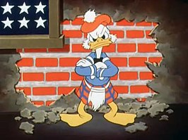Donald Duck als Scrooge uit The Spirit of '43
