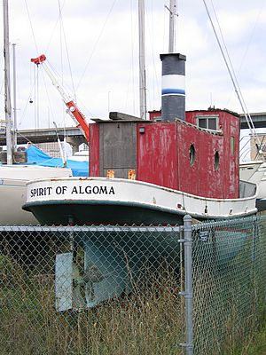 Northeastern Maritime Historical Foundation - The 1913 steam-powered tugboat the Spirit of Algoma is part of the collection of the foundation.