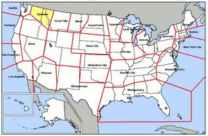 Spokane Air Defense Sector - Map of Spokane ADS