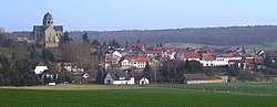 View of Sponheim with the abbey