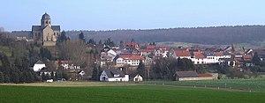 Sponheim - View of Sponheim with the abbey