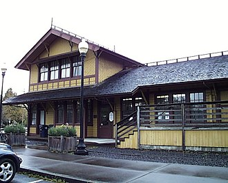 Springfield, Oregon - The historic Southern Pacific depot in Springfield
