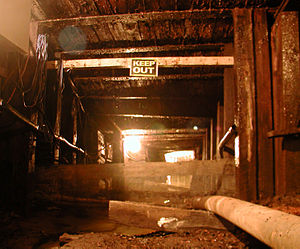 Springhill mining disaster - Inside a Springhill, NS mine shaft