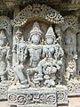 Sri Lakshmi narayana Sculpture at Lakshmi Narsimhaswami temple, Javagal.jpg