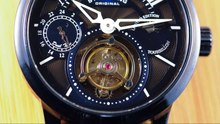 Archivo:Stührling Original Imperial Tourbillon in Midnight Blue - Movement Spinning.webm