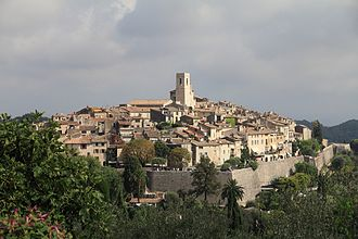 Saint-Paul-de-Vence - Panorama of Saint-Paul-de-Vence from the path of St. Clare in August 2012