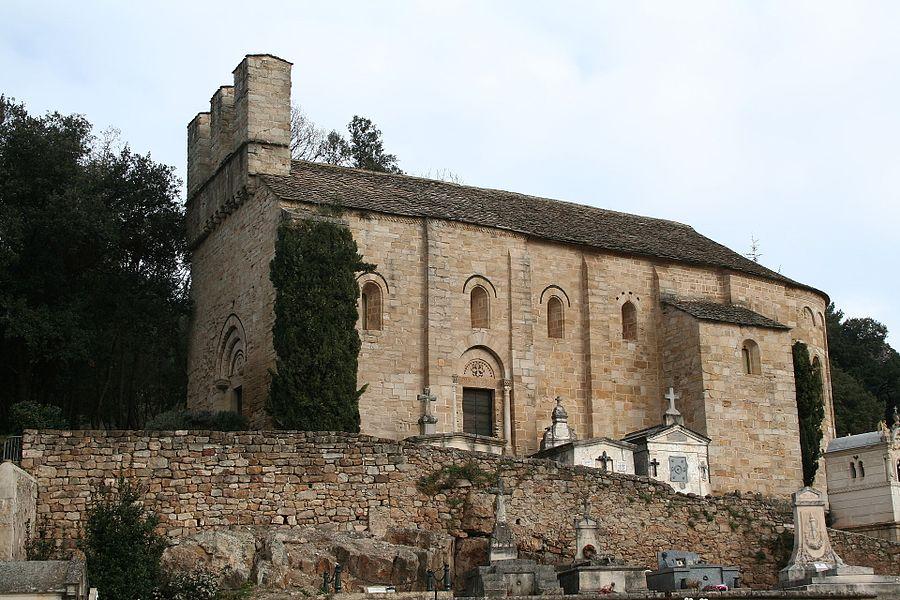 Saint-Pierre-de-Rhèdes (Lamalou-les-Bains - Hérault) - église romane - façade méridionale.