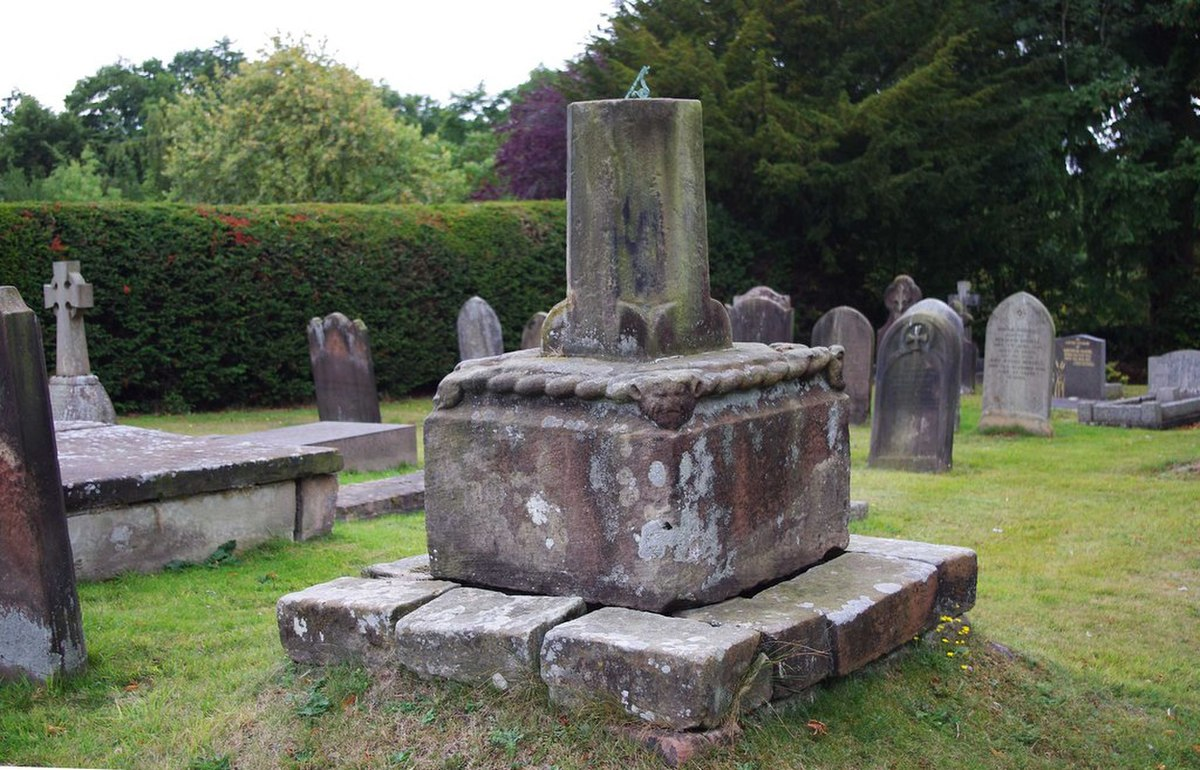 St. Cuthberts Church (5) - remains of old cross, Rectory Road, Donington (geograph 2766031).jpg