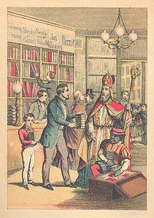 St. Nikolaas in den Boekwinkel 1880