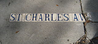St. Charles Avenue thoroughfare in New Orleans, United States