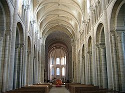 The nave of the abbey church of Saint-Georges, Boscherville, has pointed transverse ribs.