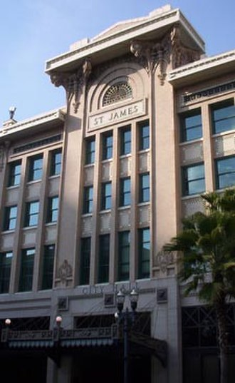 Government of Jacksonville - The St. James Building, the seat of city government in Jacksonville.