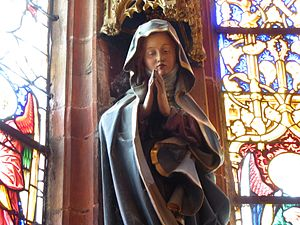 Protestant views on Mary - A statue of Mary in the Protestant church of Saint-Pierre-le-Jeune, Strasbourg
