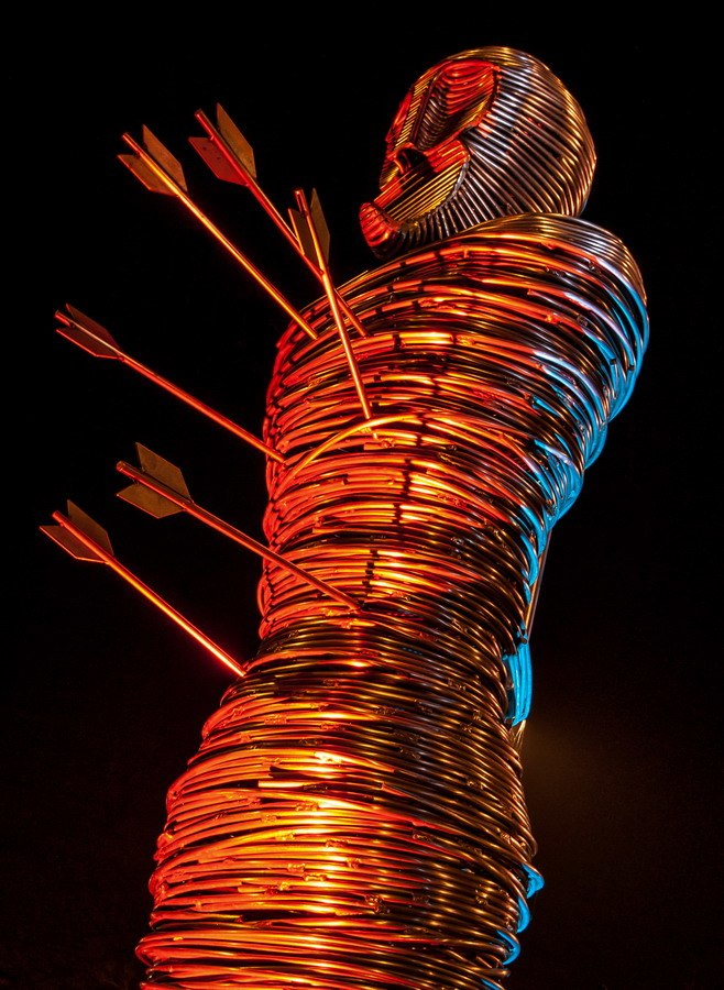 St Edmund Statue Designs on Metal