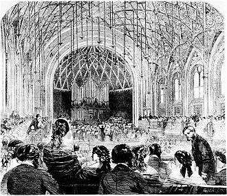 St James's Hall - Interior of St. James's Hall, 1858