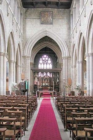St Mary's Church, Melton Mowbray - Interior, looking East