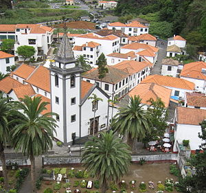 São Vicente, Madeira - Overlooking the main centre of São Vicente, with its parochial church