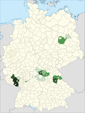 Americans in Germany - Distribution of American citizens in Germany (2014)