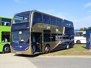Stagecoach West - Stagecoach Gold liveried Alexander Dennis Enviro 400 in September 2009