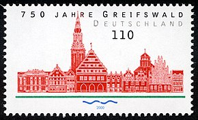 Stamp Germany 2000 MiNr2111 Greifswald.jpg
