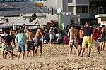 Standing in the Jet Wash St. Martin Maho beach (8461206051).jpg