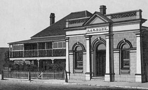 Australian Joint Stock Bank - Australian Joint Stock Bank, Warwick, Queensland, circa 1886