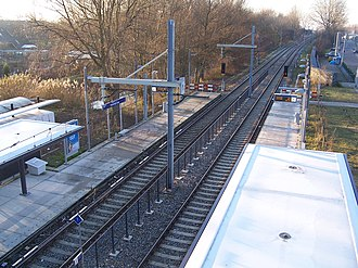 Voorweg RandstadRail station - Image: Station Voorweg Laag